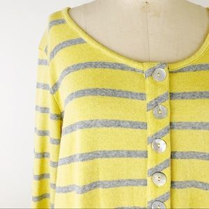 Soft surroundings striped Parker tunic sweater top